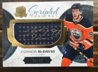 2017-18 The Cup Connor McDavid Auto #31 35 Scripted Swatches Autograph GU Relic