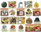 CANADA Star Wars ANGRY BIRDS vending Machine Stickers (2012) set of 10 sheets