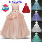 Girl Flower Dress Princess Party Bridesmaid Wedding Kid Formal Gown Long Dresses