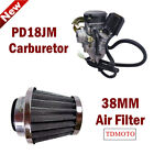 PD18JM Carburetor Carb 38mm Air Filter For 4 stroke GY6 50cc Scooter Moped BMS