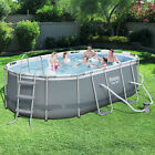 Oval Frame Swimming Pool Set 1311 x 82 x 395 Outdoor Backyard Water Sports