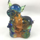Amore Jewell Chinese Zodiac Collection Pig Colored Glaze GlassLiuli Crystal