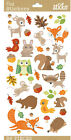 Sticko Scrapbooking Autumn Stickers Fall Woodland Animals Fox Owl Leaf Acorn NEW
