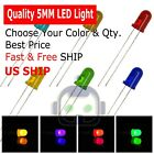 New 3mm 5mm 8mm 10mm LED Light Emitting Diodes Clear White Red Blue Green Lights