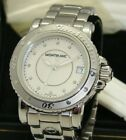 MONTBLANC 35mm STAINLESS STEEL LADY SPORT QUARTZ MOTHER-of-PEARL DIAMOND WATCH