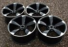 Gloss Black Wheels Fits Audi A4 A5 Q5 20x90 +35 5x112 Rotor Style 20 Inch Set 4