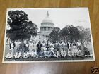 vintage photo/capital building white house lawn w / dwight eisenhowers autograph