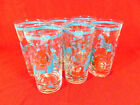 Vintage Asian Themed Libbey Glass Tumblers Women Polo Horses Set Of 6