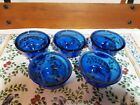 Set of 5 Anchor Hocking Cobalt Blue