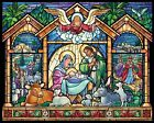 Vermont Christmas Company Stained Glass Nativity Jigsaw Puzzle 1000 Piece New