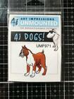 New Art Impressions Rubber Stamp BOXER DOG PUPPY cling free USA ship