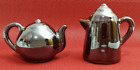 Vintage Coffee  Tea Pot Salt Pepper Shakers JAPAN Dark Shiny Pearlescent Glaze