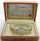 VINTAGE MENS LONGINES 10K GOLD FILLED WRISTWATCH WATCH W/CASE