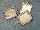 3 BLUE MOON PICTURE FRAME CHARMS EARLY 1990S