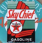 top quality TEXACO SKY CHIEF  porcelain coated 18 GAUGE steel - PUMP PLATE sign