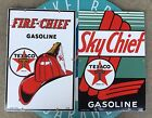 top quality TEXACO FIRE-CHIEF - SKY CHIEF porcelain coated 18 GAUGE steel SIGNS