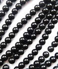 Free Shipping 1000pcs black glass Spacers bead 6mm