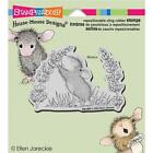 New STAMPENDOUS House Mouse RUBBER STAMP cling SCENT OF LILAC Free us sHIP