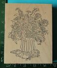 Stamps Happen FLOWERS IN A VASE Rubber Stamp