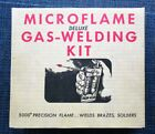 Microflame Small Gas Welding Torch Kit Compressed Micronox Butane Cylinders