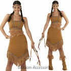 CL800 Ladies Pocahontas Native American Indian Wild West Fancy Dress Up Costume
