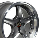 17x9 17x8 Wheels Fit Ford Mustang Cobra R Style Anthracite Rims SET OEW