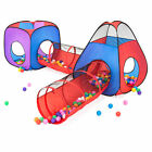 BCP Kids 4 in 1 Kids Multicolor Ball Pit Tent Playset w 200 Balls Storage Bag