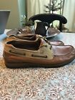 SPERRY Top Sider Boat Shoes 2 Eye Leather 0777940 Two Tone Brown Mens Sz 12
