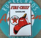 top quality TEXACO FIRE CHIEF  porcelain coated 18 GAUGE steel - PUMP PLATE sign