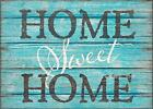 SIXTREES Home Sweet Home 5X7 Inch Wood Decorative Box Sign