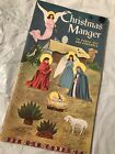 1959 CHRISTMAS MANGER GOLDEN FUNTIME Punch Out Book UNUSED UNPUNCHED Nativity