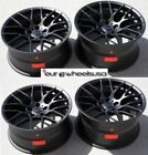18 AVANT GARDE M359 BLACK CONCAVE WHEELS RIMS FITS BMW E60 528 530 535 545 550