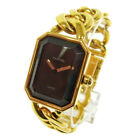 Authentic CHANEL Vintage Premiere Gold Chain Wristwatch 750 K18 Quartz A35771f