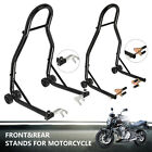 Motorcycle Stand Front & Rear Wheel Combo Paddock w/Swing arm Spool Forklift