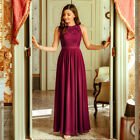 Ever-Pretty US Burgundy Formal Evening Gown Long Lace Cocktail Party Dresses
