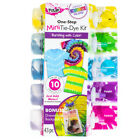 43 Piece Mini Tie Dye Kit 6 Pairs Gloves 30 Rubber Bands Reusable Backpack