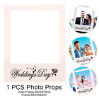 Wedding Day Rose Photo Prop Paper Picture Frame Photo Decor Tool Backdrop White