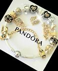 Pandora Bracelet Silver Gold Mom Angel Wing Gold Love with European Charms New