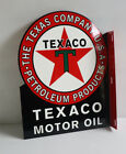 TEXACO RED STAR MOTOR OIL Flange Sign  gas station Modern Retro