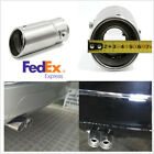 225 Inlet Stainless Steel Car Muffler Exhaust Tip Tail Pipe Cover Chrome Oval