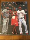 MIKE TROUT CHIPPER JONES AUTOGRAPHED SIGNED 16X20 ANGELS BRAVES MLB HOLO
