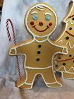 Christmas Blow Mold Gingerbread Figure Boy Painted Vintage Style Lighted