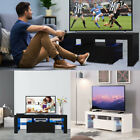 High Gloss TV Stand Unit Cabinet w LED Shelves Drawers Remote Control