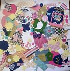 Die Cut Shapes lot 100+ scrapbook paper Cardstock big variety Sizzix punches