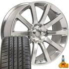 20x9 Polished Chrysler 300C SRT Wheels Tires  TPMS 20 Rims Fit Dodge SXT OEW