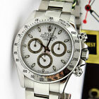 Rolex Cosmograph Daytona Stainless Steel White Dial 116520 - WATCH CHEST
