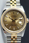 Rolex Datejust Yellow Gold & Steel Champagne Dial 116233 Jubilee - WATCH CHEST