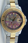 Rolex Lady Yachtmaster Gold & Steel Black Mother of Pearl 169623 - WATCH CHEST