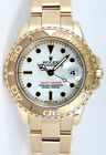 Rolex Lady Yachtmaster Yellow Gold White Dial 69628 - WATCH CHEST