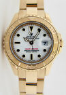 Rolex Lady Yachtmaster Yellow Gold White Dial 169628 29mm - WATCH CHEST